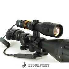 1600LM CREE T6 ZOOMABLE Scope Mount Laser Hunting Gun Air Rifle Torch Light KIT
