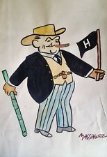 Cuban Art. Caricature of W. Churchill by Massaguer, circa 1942. Original signed.