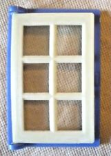 Vintage Dolls House DIY - Caroline's Home Single Panelled Glazed Blue Window #2