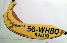 56-WHBQ Radio bumper sticker decal hot rod rat rod vintage look nostalgia