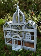 Bird Cage Architechtural Wooden wood Cathedral Victorian triple Dome vintage