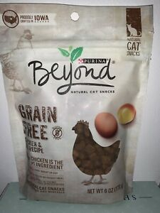 Purina Beyond Grain Free Chicken Egg Recipe Natural Cat Snacks 6.0 Oz Package
