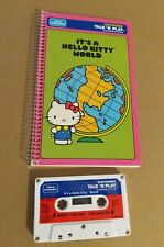 Playskool Talk N And Play Hello Kitty Book Cassette Tape Toy 80s 1980s VTG