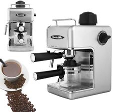 Sentik Silver Espresso Cappuccino Latte Coffee Maker Machine Stainless Steel