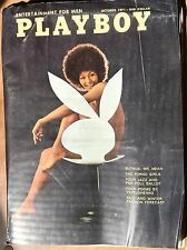 vintage play boy magazine October 1971