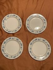 "FOUR Noritake Ivory China SPLENDOR 7235 Salad Plates 8 1/4"" Blue You Buy Now"