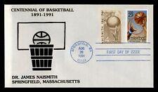 DR WHO 1991 CENTENNIAL OF BASKETBALL JAMES NAISMITH FDC C187668