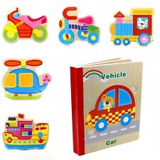 Book Puzzle Toy for Toddler Baby Kids Children . Vehicles 2 book