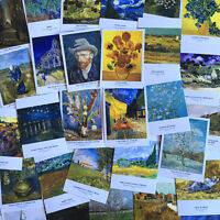 Lot 30 pcs Van Gogh Famous Paintings Postcards Starry Night Sunflowers Bulk #15