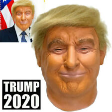New Realistic Donald Trump Mask Costume Cosplay Party Celebrity Latex Halloween