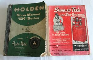 Original vintage Holden EK Series Shop Manual + American Tool Catalogue Motor
