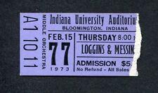 1973 Loggins & Messina concert ticket stub Indiana House At Pooh Corner