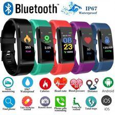 Waterproof ID115plus Smart Watch Heart Rate Fitness Step Calorie Tracker Monitor