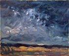 """Cloud Sky Landscape Abstract Oil Painting Original Signed Canvas 16""""x20"""""""