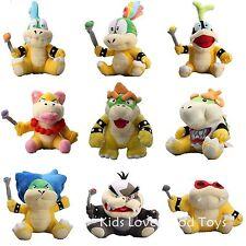 9X Super Mario Plush King Bowser & Kids Koopalings Koopa Larry Lemmy Ludwig ETC
