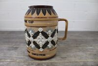 Antique Doulton Lambeth 'Bitter Must Be The Cup' Stoneware Motto Tankard.