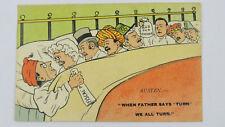 1900s Vintage Comic Political Postcard Joseph & Austen Chamberlain Fiscal Policy