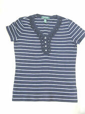 Cotton 3/4 Sleeve Striped Petite Tops & Shirts for Women