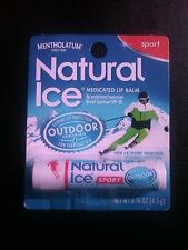 Natural Ice Sport (6) and Cherry (6) Mentholatum Lip balm, box of 6 each