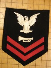 Original WW2 US Navy BUGLER 2nd Class Petty Officer Sleeve Rate