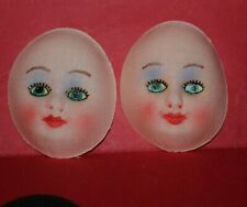 Vintage Fabric Doll Faces For Doll Making