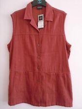 Button Viscose Hip Length Plus Size Waistcoats for Women