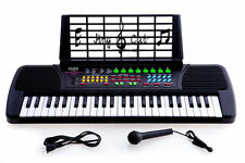 New De Rosa KB49 49-Key Kid's Electronic Piano Keyboard w/ Microphone