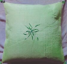 Light Green Quilted Pillow Cover Cushion Case Embroidery 16""