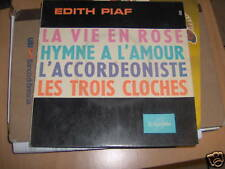 7' EP SUPER 45 T. EDITH PIAF LA VIE EN ROSE HYMNE A L'A