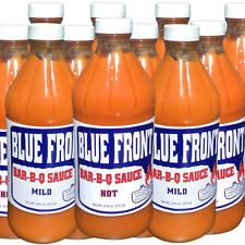 Blue Front BBQ Barbecue Sauce 12 PACK COMBO (6-HOT,6-MILD)16oz. bottles