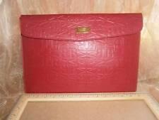 "BADGLEY MISCHKA Clutch MacBook Mac Air 13"" Red Leather Document Holder NEW"