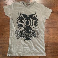 "SOiL T-shirt Women's NEW ""TRUE SELF"" music band memorabilia SIZE M olive green"
