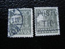DANEMARK - timbre - yvert et tellier n° 182 x2 obl (A12) stamp denmark