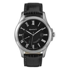 Gant West Creek Men's Dress Watch W10371 Black Leather Strap - Day Date Display