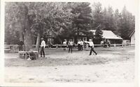 Vintage Real Photo Post Card RPPC Horseshoes Game - Intermountain Tourist Supply