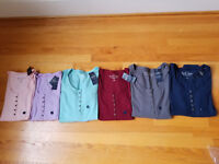 NWT Hollister Slim Ribbed Long Sleeve Henley Tee Top 6 Colors M , L or XL