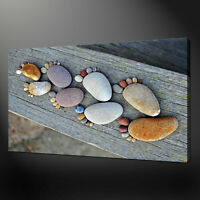 STONE FEET FUNKY CANVAS PRINT WALL DESIGN READY TO HANG