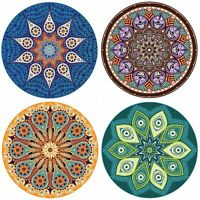 """ENKORE Absorbent Coaster For Drinks - 8 Pack Large 4.3"""" Size Ceramic Thirsty ..."""