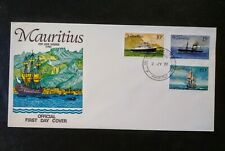 Mauritius 1976 First Day Cover Ships, Steam & Sailing 3 Stamps Port Louis Harbor