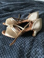 Tan/gold Latin Dance Shoes 5.5 New