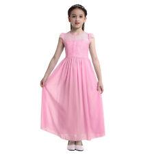 Flower Girl Dress Kids Formal Pageant Wedding Bridesmaid Party Kids Long Dresses