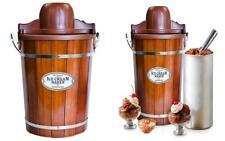 Nostalgia Icmp600Wd Wood Bucket Ice Cream Maker, 6-Quart 6-Quart, Brown