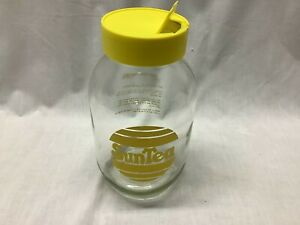 Vintage Carlton SUN TEA SUNTEA 3L Recipe Jar Beverage Plastic Screw on Lid Spout