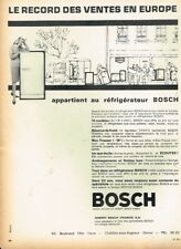 E- Publicité Advertising 1963 Le Refrigerateur Bosch