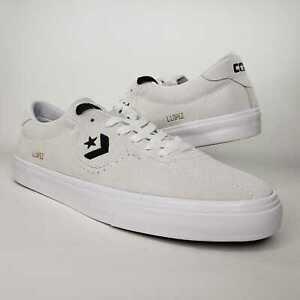 Converse Mens Louie Lopez Pro Ox CONS White Suede Skate Shoes Size 9 163262c