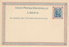 Liberia # X2 1891 Postal Stationery GREAT CONDITION - Sharp Corners - Fresh!