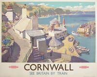 Cornwall VINTAGE ENAMEL METAL TIN SIGN WALL PLAQUE