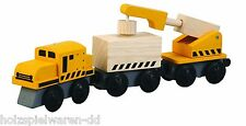 Plantoys 6251 Plancity Crane Train for Wooden Train Wood New! #