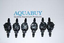 Aquabuy 6 x Air line valves - Air line tap - 4mm tap (1/2 Turn Type)