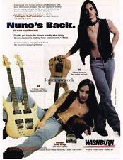 1995 Washburn Electric Guitars Nuno Bettencourt Extreme Magazine Ad